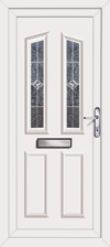 Triple glazed upvc front door