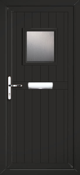 Glazed Black  UPVC Front Door