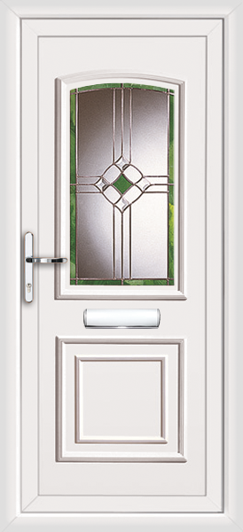Glazed pvcu door