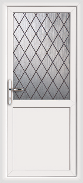 upvc rear door without letterbox