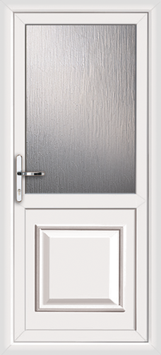 Upvc back door with no letterplate