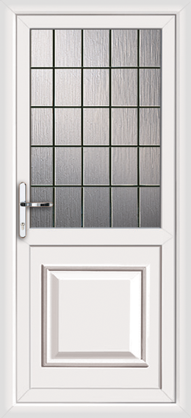 Pvcu back door with no letterplate