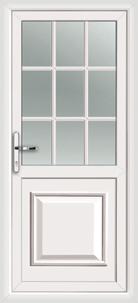 Pvc back door with no letterbox