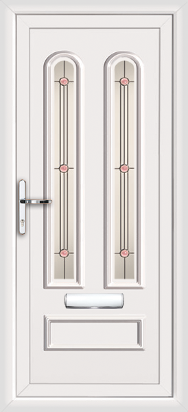 Front door with clear glass